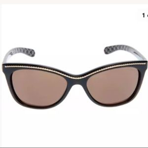 CHANEL SUNGLASSES BROWN GOLD CHAIN 6014 538/S7